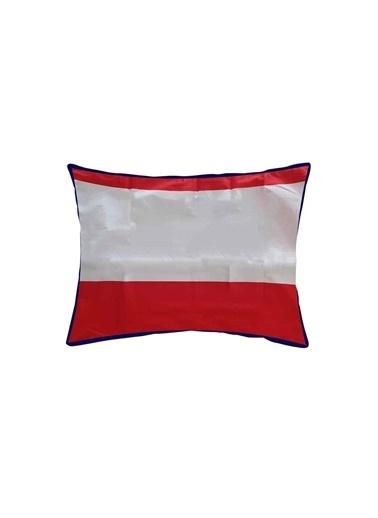 Maki %100 Pamuklu 2 Adet 50x70 Yastık Kılıfı Soho Kırmızı Biyeli Renkli